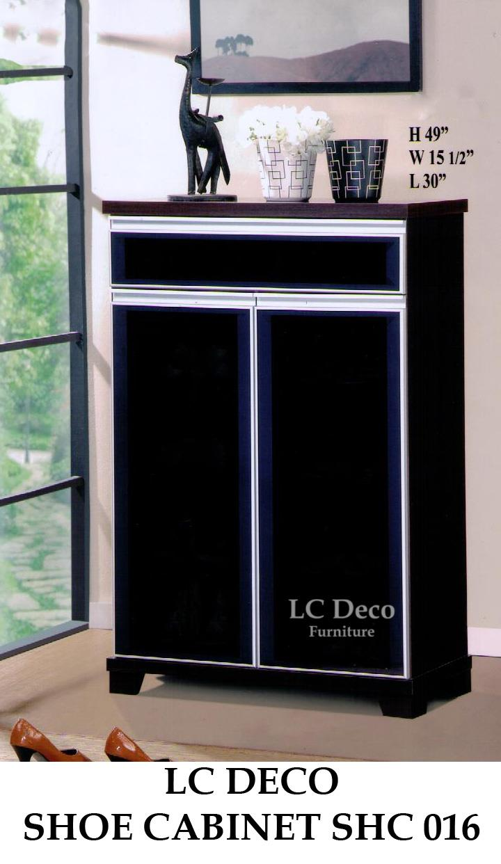 lc deco shoe cabinet shc016 almari kasut. Black Bedroom Furniture Sets. Home Design Ideas