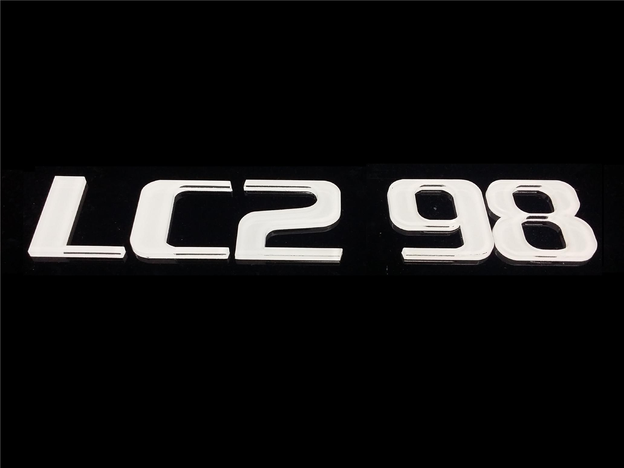 LC2 FONT CRYSTAL ACRYLIC NUMBER PLATE SET 2 - 7 ALPHABET