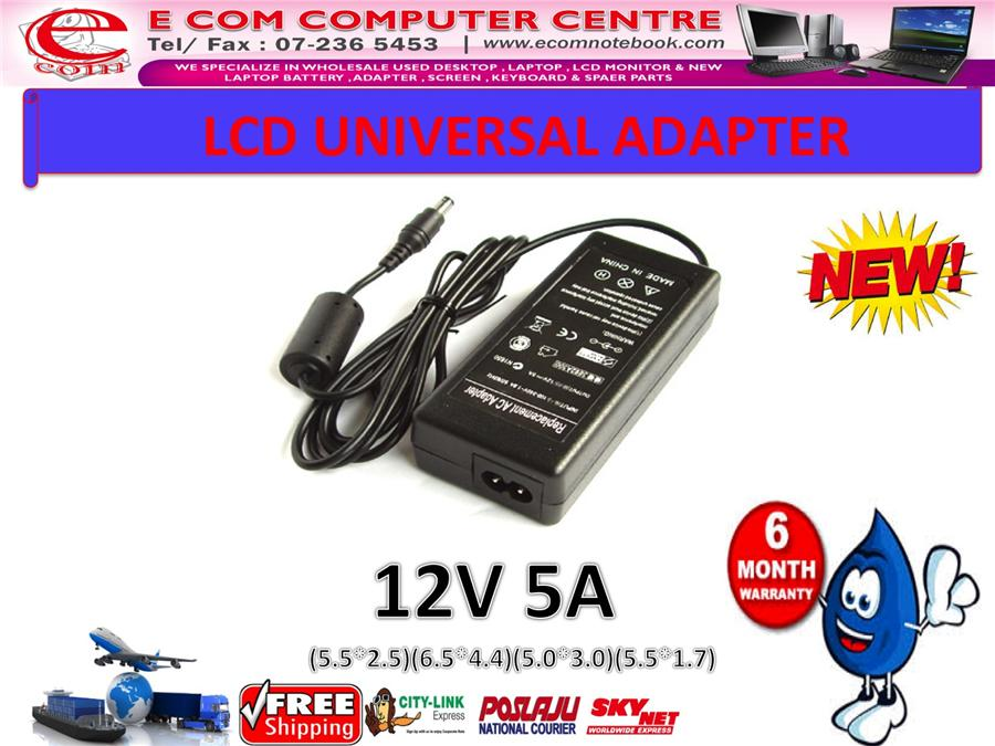 LCD & LED MONITOR ADAPTER 12V 5A (5.5MM*2.5MM)