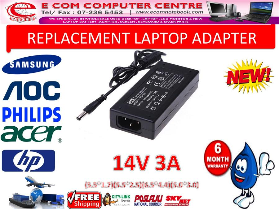LCD & LED MONITOR ADAPTER 14V 3A (5.5MM*2.5MM)
