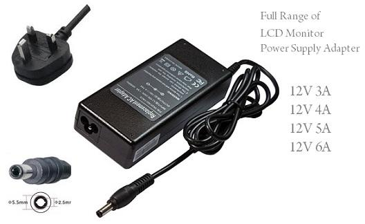 LCD TV 12V 3A Power Adapter 36W 5.5x2.5 mm