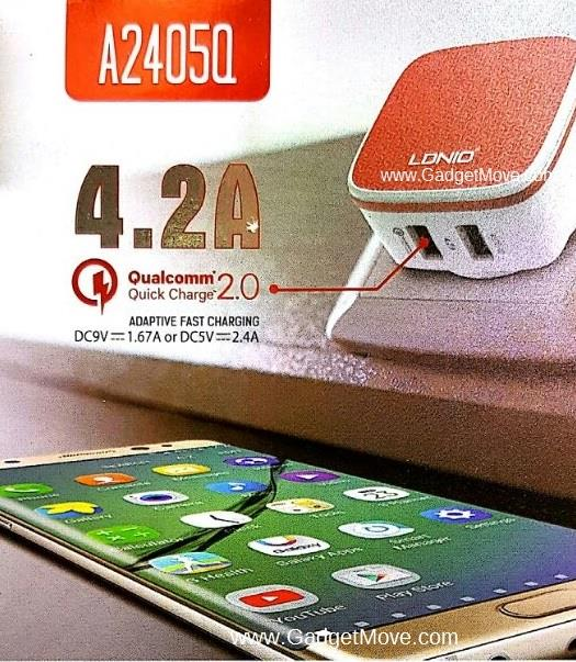 LDNIO A2405Q Qualcomm Quick Charge QC 2.0 Dual 2 Double USB charger