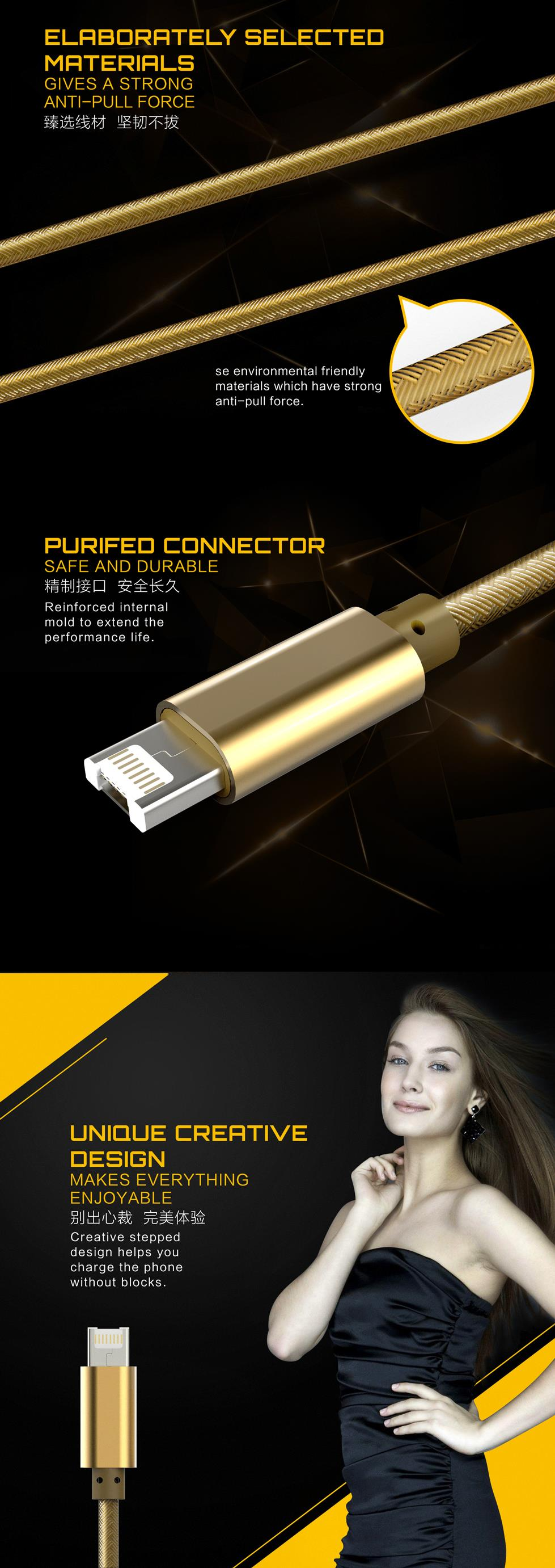 LDNIO Micro And Lightning Connector 2 In 1 Data Sync And Charge Cable
