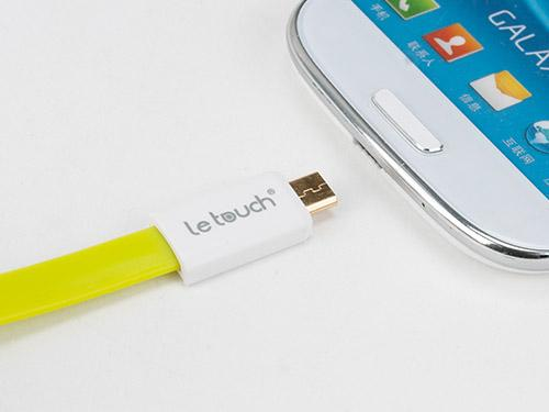 Le Touch 22cm Micro S-Colorful Micro USB Flat Cable with magnet