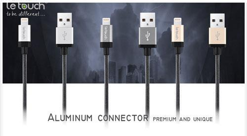 Le Touch MFI Lightning Cable - Matrix (Made for iPod,iPhone,iPad)