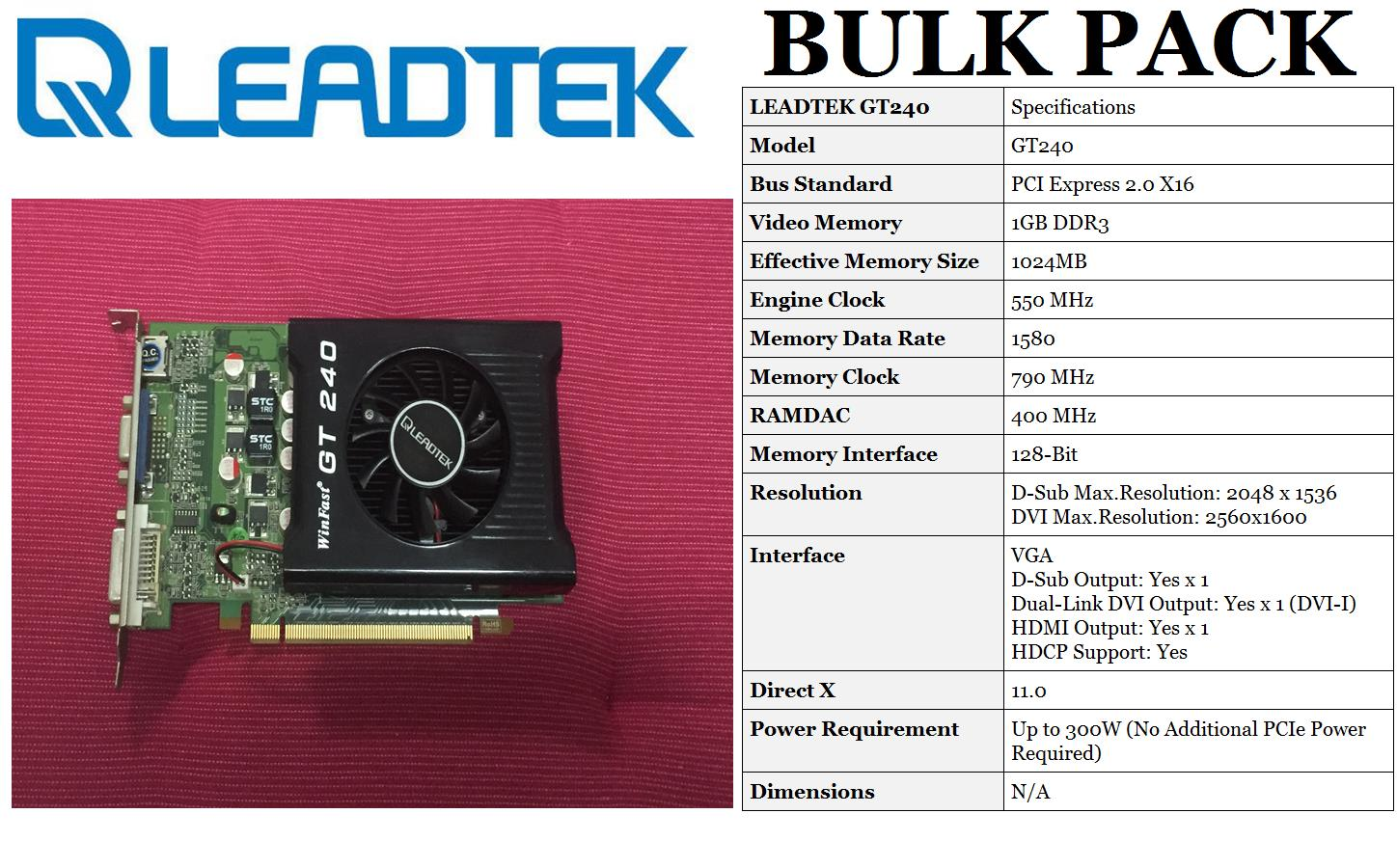 Leadtek Winfast NVIDIA GEFORCE GT240 1GB/128Bit _ SOLD-OUT