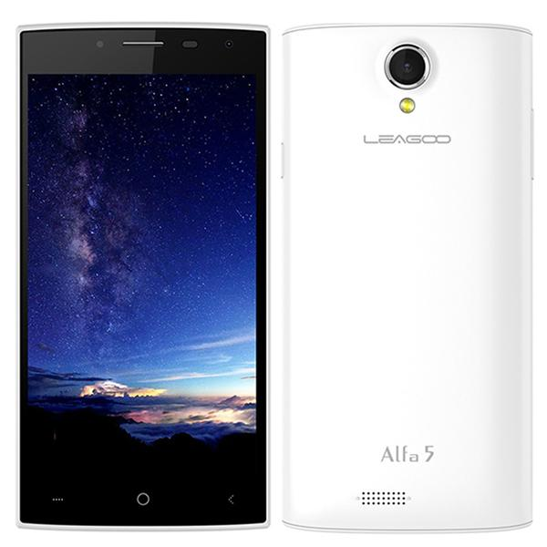Leagoo Alfa 5  (White)  (Official Leagoo Warranty)