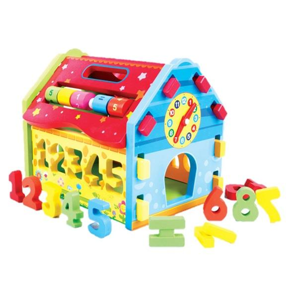 Learning Shape Sorter Wooden_Digital Wisdom House Educational Toys