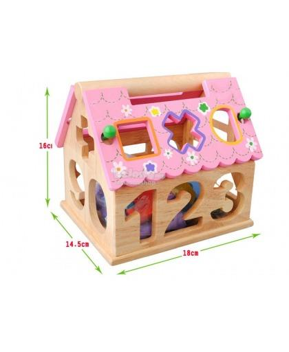 LEARNING SHAPE SORTER WOODEN EDUCATIONAL CHILDREN KIDS KANAK BELAJAR