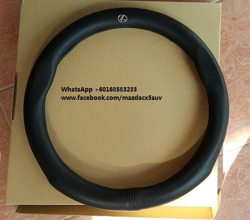 Leather Car Steering Cover Case OD:38cm ID: 30cm Lexus