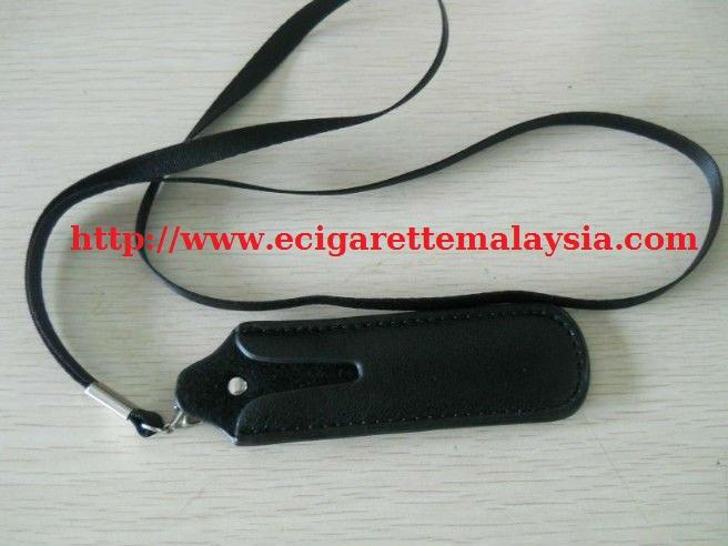LEATHER NECK POUCH BLACK / E-CIGARETTE / ROKOK ELEKTRONIK / E-ROKOK