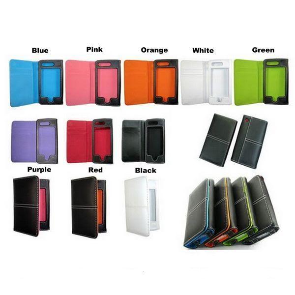 NEW LEATHER WALLET FLIP CASE COVER FOR IPHONE 4 4G /3G 3GS