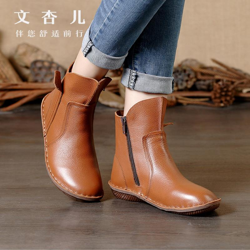 Cool Women Shoes FashionMidCalf Flat Heel British Driving Short Boots