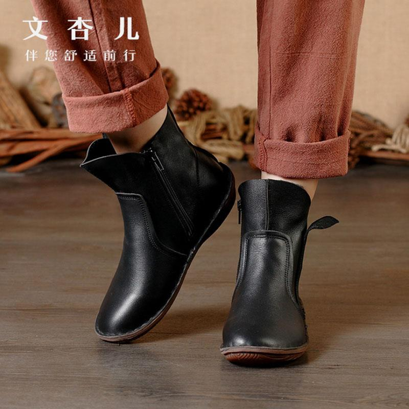 Brilliant Women Winter Snow Ladies Low Heel Ankle Belt Buckle Martin Boots Shoes