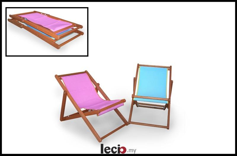 lecio Kids Sling Chair Outdoor Garden Patio DIY Timber Furniture Selangor e