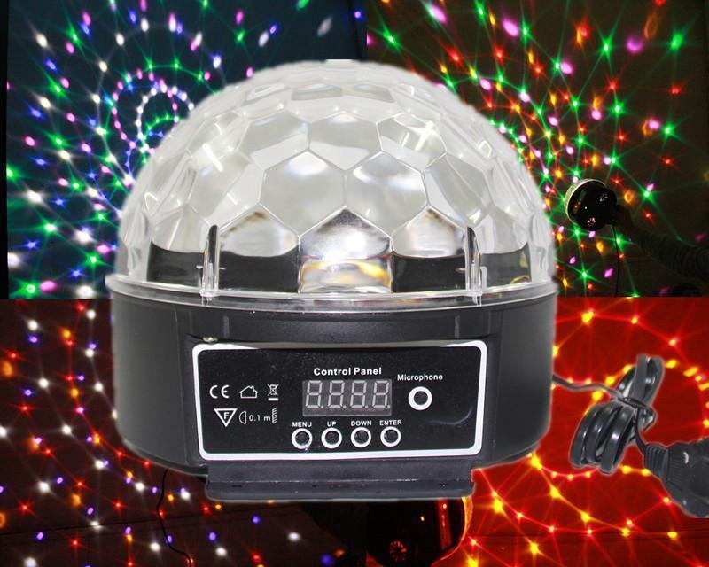 LED Crystal Magic Ball / Disco Lighting - Laser Light Music Player