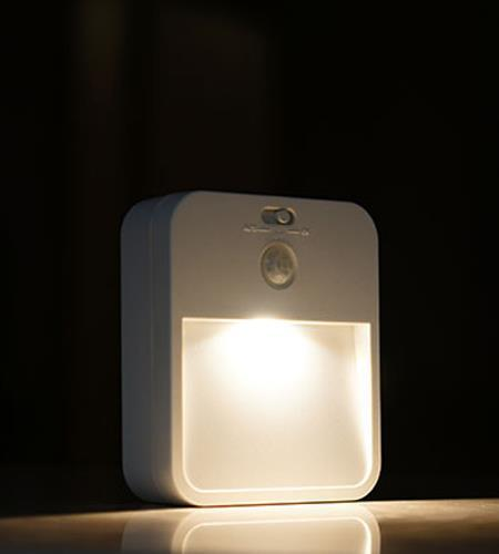 LED EMX Wall Light With Sensor, Matte White Square