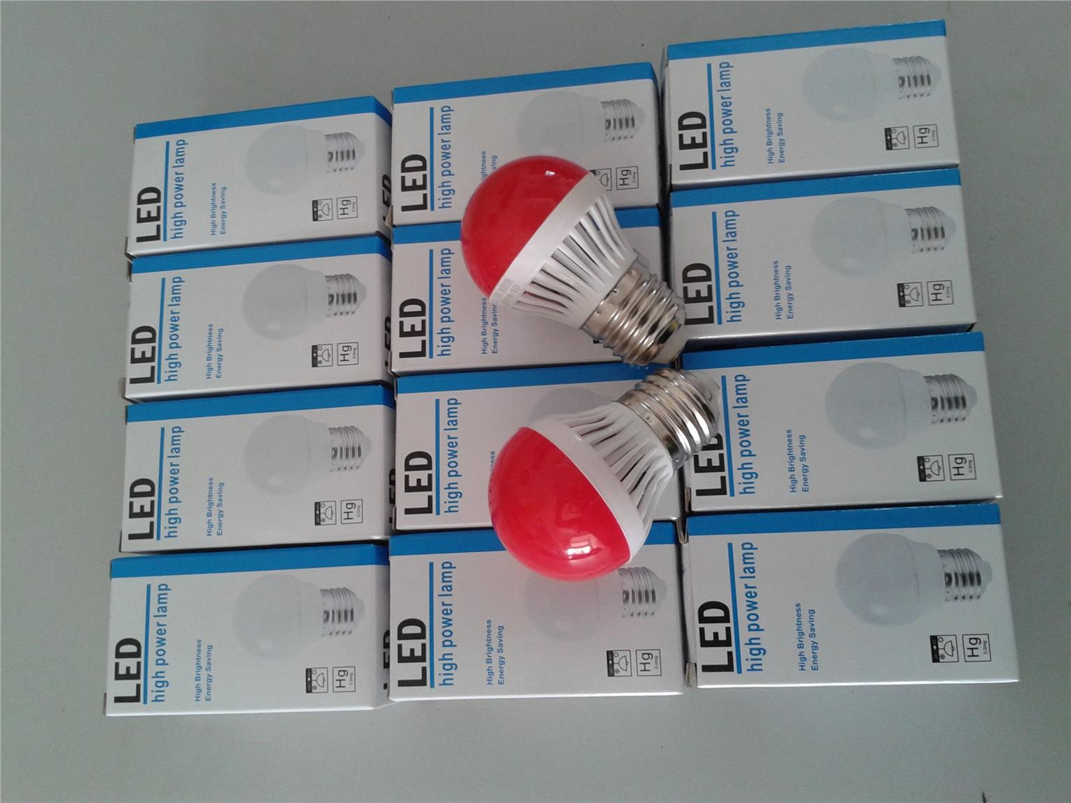 LED PING PONG 3W RED COLOR BULB ENERGY SAVING