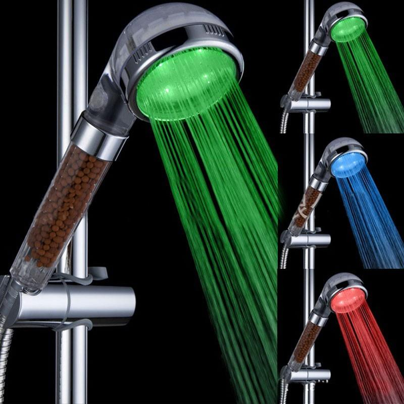 LED shower head Negative ion shower head Auto Change Colors