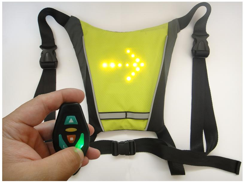 LED Signal Vest with Remote Control (Buckle type) - Stock Clearane