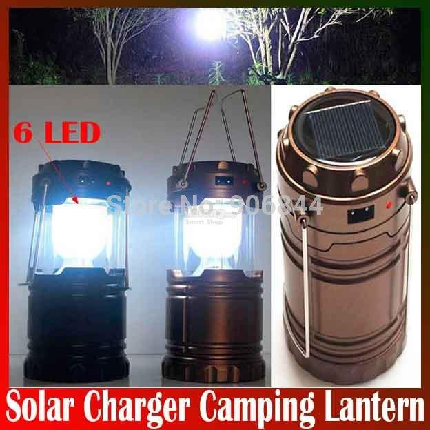 LED solar outdoor rechargeable camping Lantern camping lamp small port