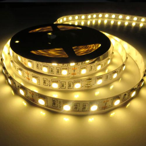 LED Strip Light 5m 3528 SMD Flexible Warm White Nonwaterproof
