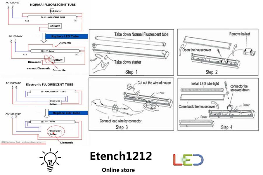 install philips t8 led wiring diagram