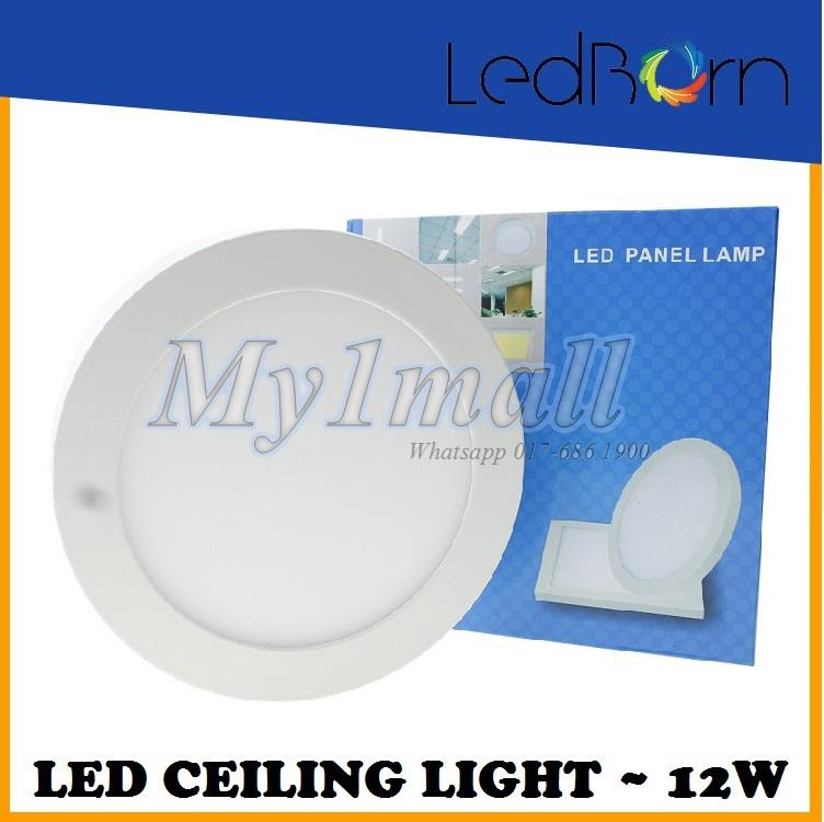 LedBorn LED Ceiling Light 12W Surface Mount Round Daylight (White)