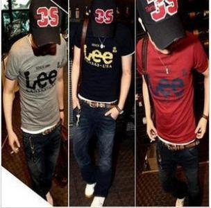 LEE short sleeve t-shirt man top elegance men tee t shirt male wear