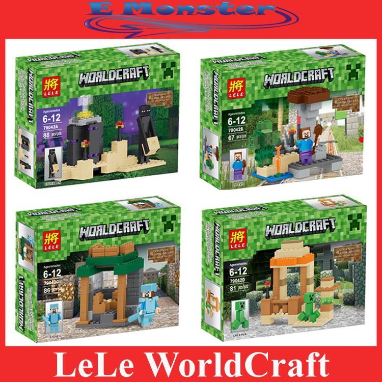 Not Lego / 4 in 1 LEZI Minecraft / My world 88+67+86+81= 322 pcs Block