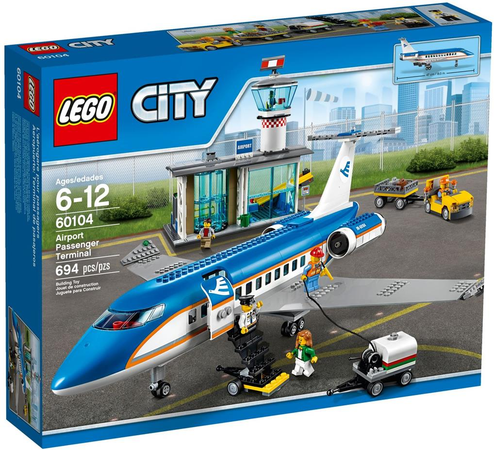LEGO 60104 City Town Airport Passenger Terminal NEW MISB