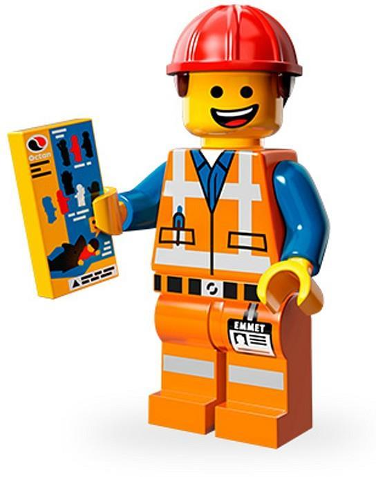 LEGO 71004 The Movie HARD HAT EMMET Minifigure Series 12 New