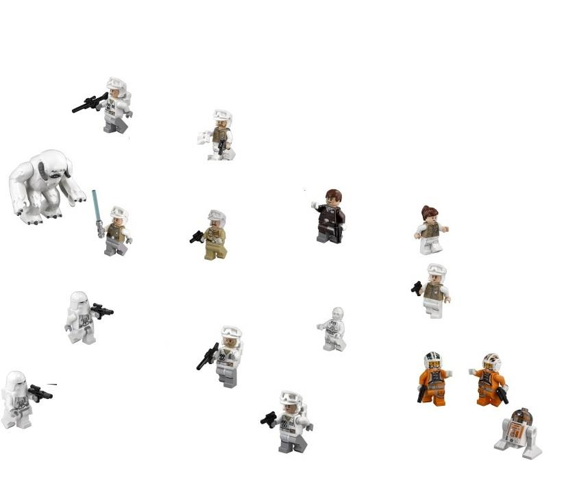 LEGO 75098 Star Wars Complete 15 Minifigure NEW Fr UCS Assault of Hoth