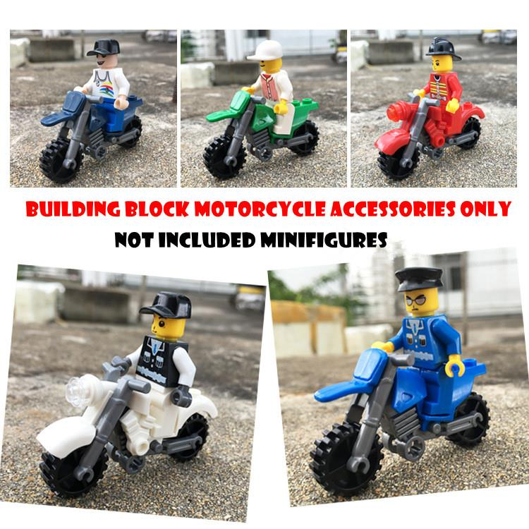 Lego Building Block  Motorcycle Accessories (Not Included Minifigures)