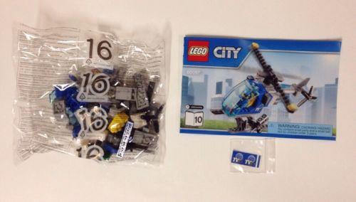 LEGO City Town Square News Helicopter Only + Pilot NEW Split Fr 60097