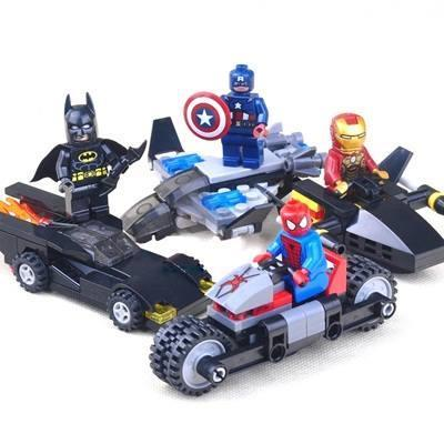 New - Lego Compatible 4 Boxes Super Heroes Blocks - Game,Kids