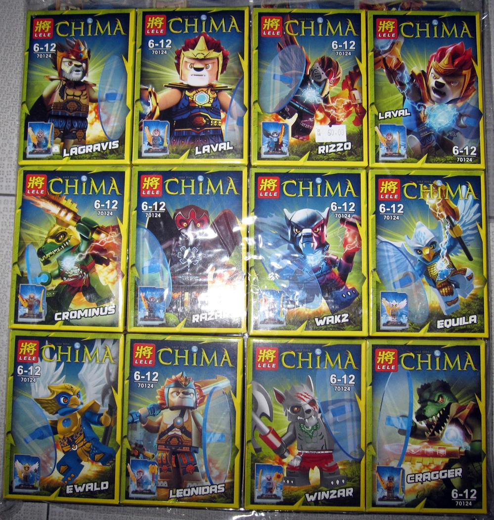 Lego Compatible Chima 12 Figurines (Penang, end time 6/2/2015 1:15:00