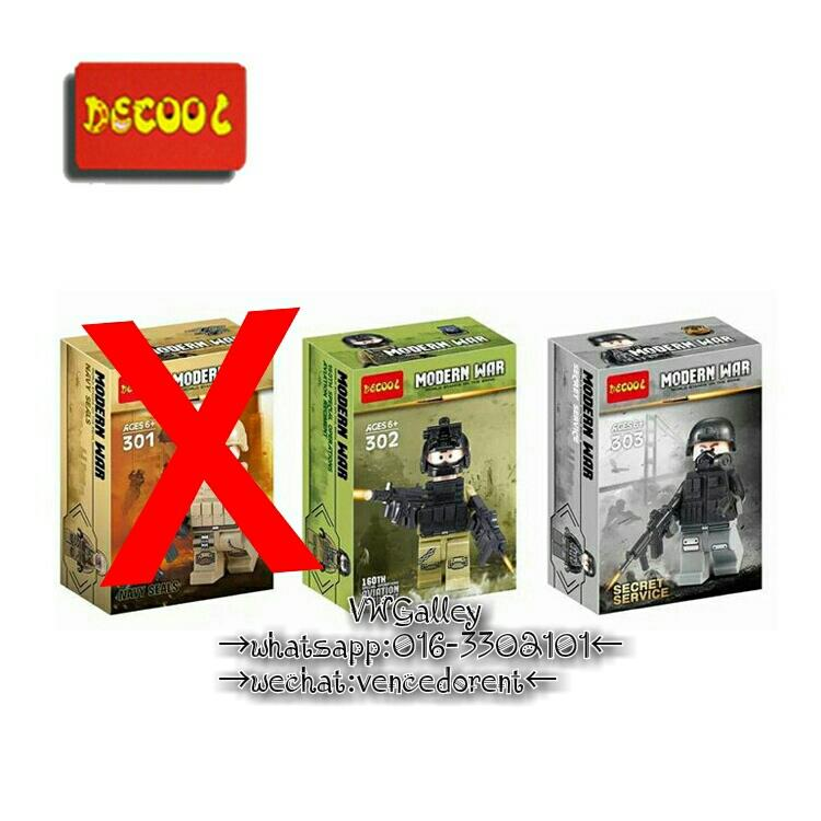 Lego Compatible Decool Minifigures 2 x Modern War 302-303