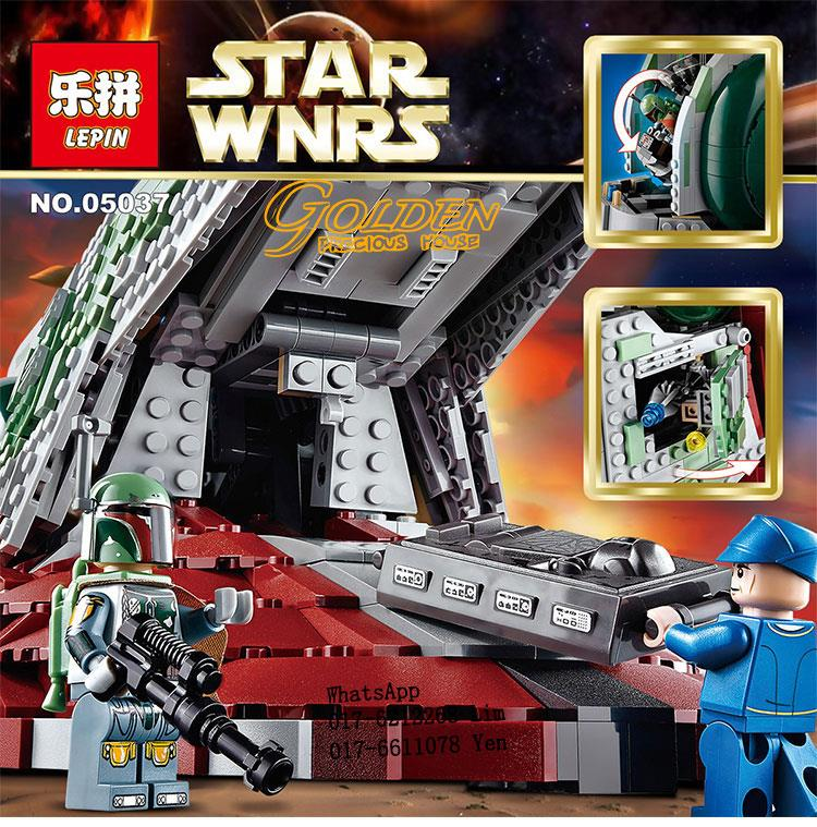 Lego Compatible LEPIN 05037 STAR WNRS UCS Slave 1
