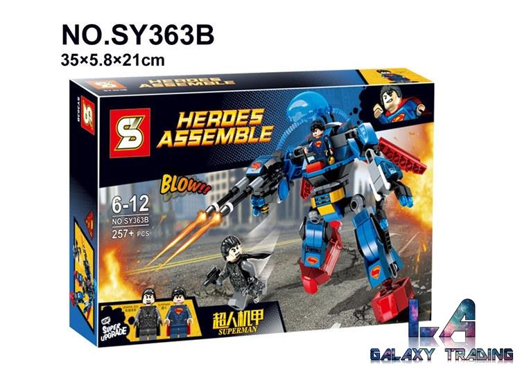 Lego Compatible SY363B Heroes Assemble Superman Thrasher Armor Suit