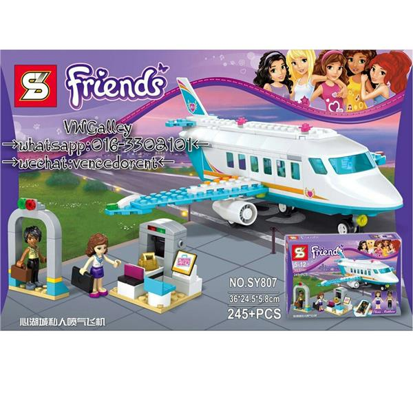 Lego Compatible SY807 Girl friend series Jet plane 2016