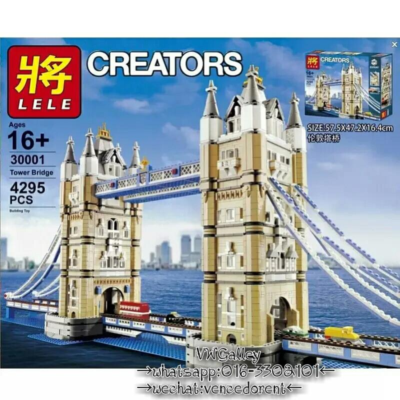 LELE 30001 Creator Expert London Tower Bridge 4295 PCS