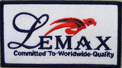 LEMAX FISHING SPORTS EMBROIDERED PATCH