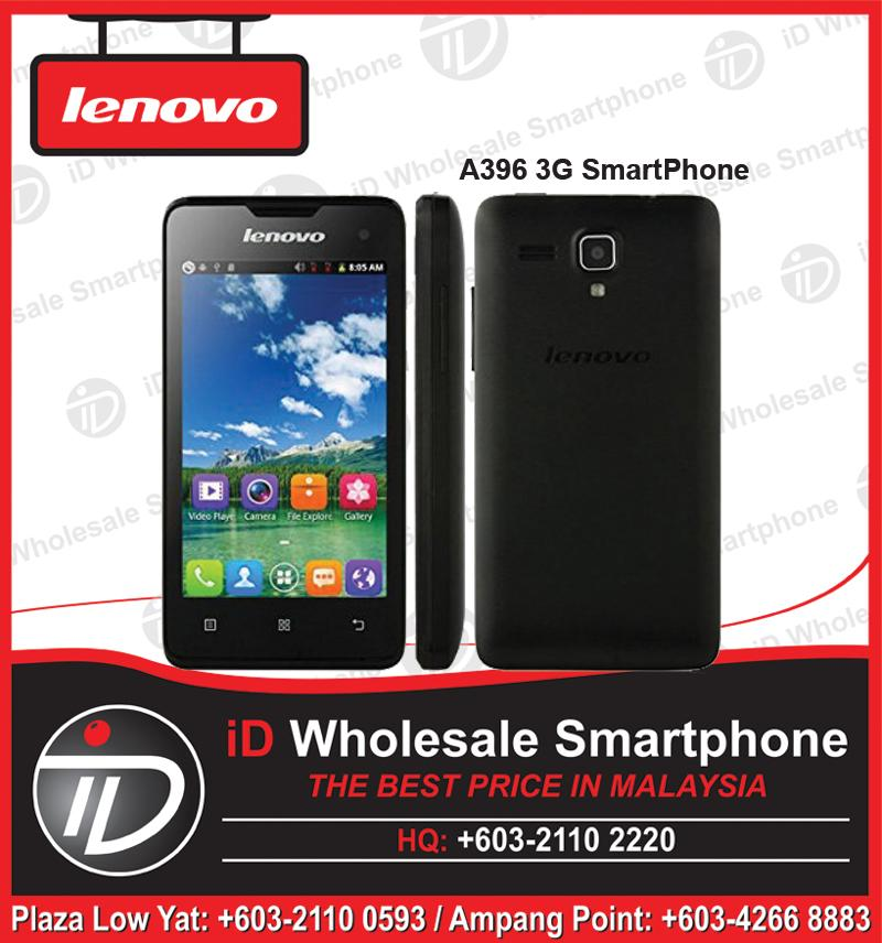 Lenovo A396 3G SmartPhone Quad Core 1.2GHZ Dual Sim Black, White Color