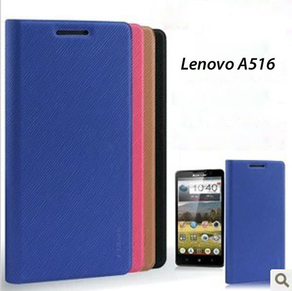 Lenovo A516 A 516 Flip Cover Leather Pouch High Quality Case Casing