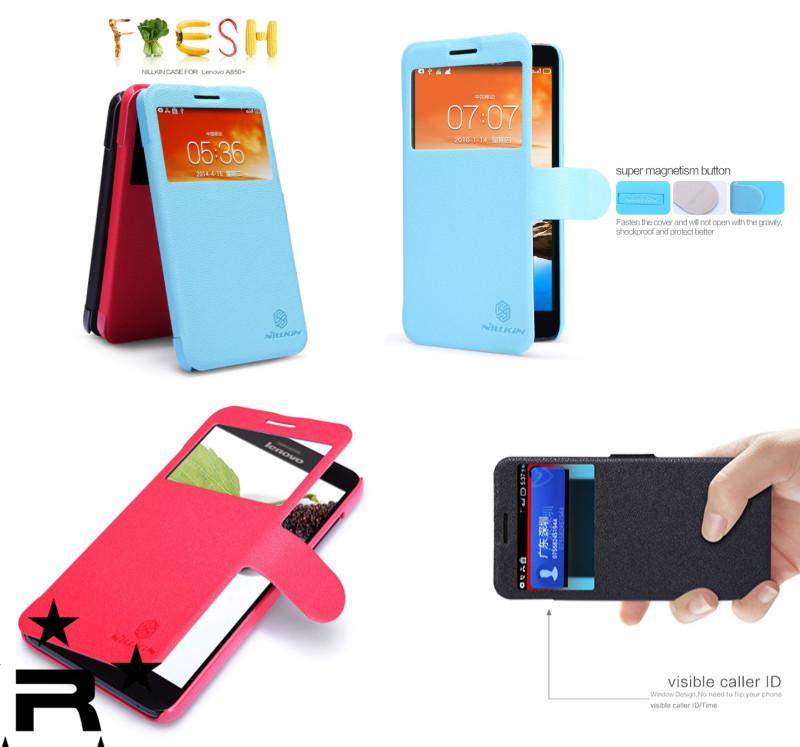 Lenovo A850 + Nillkin Fresh Series Leather Case - rmtlee