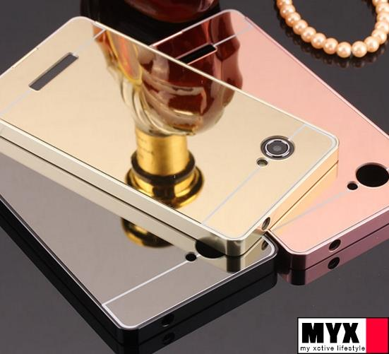 Lenovo A880 Metal Frame Mirror Casing Case Cover
