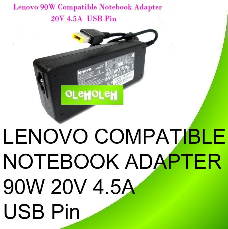Lenovo Compatible Notebook Adapter 90W 20V 4.5A USB Pin