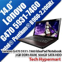 LENOVO G470 5931-7460 G-SERIES IDEAPAD 14' NOTEBOOK