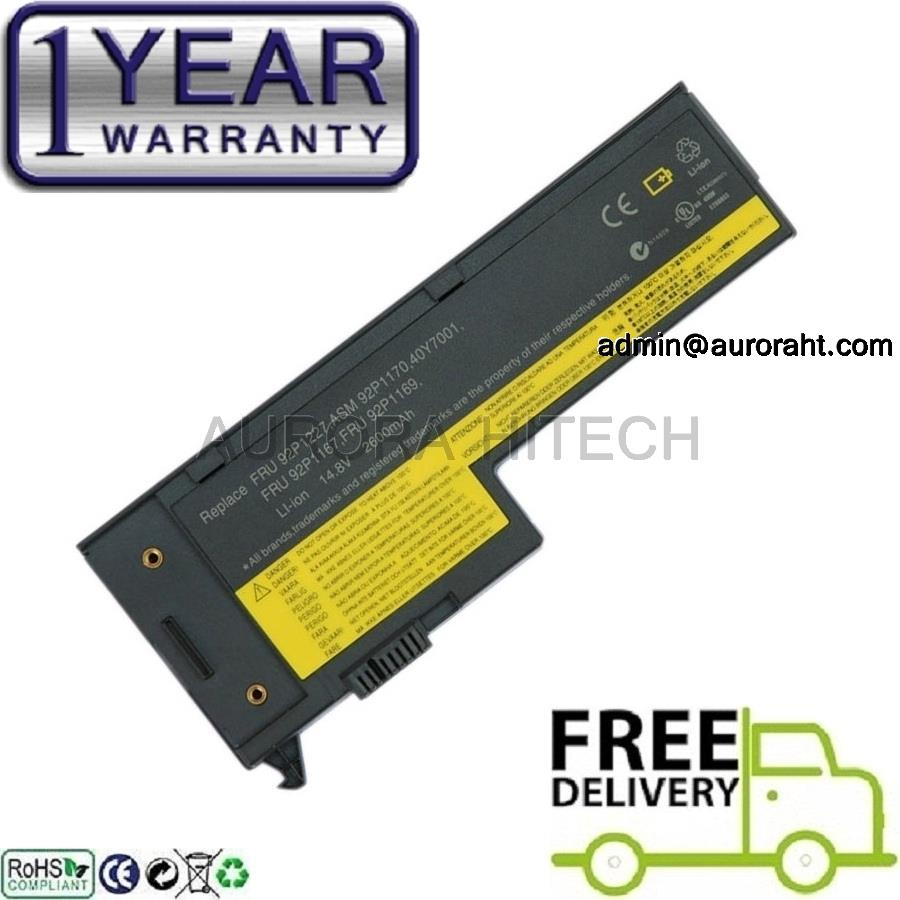 New Lenovo IBM ThinkPad X60 X60s X61 X61s 4C 2600mAh Laptop Battery